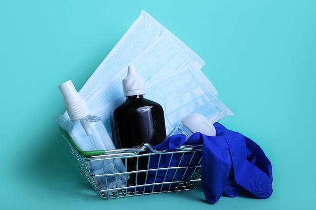 Żel do dezynfekcji rąk do higieny rąk i narzędzi antybakteryjnych w koszyku