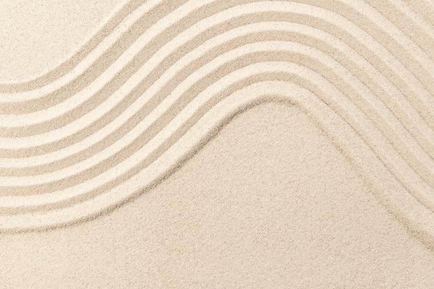 Zen fala piasku teksturowanej tło w koncepcji uważności