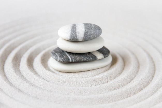 Zen japoński ogród tło