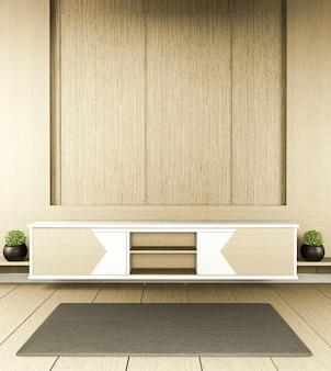Zen nowoczesny pusty pokój, minimalistyczny design w japońskim stylu. renderowania 3d