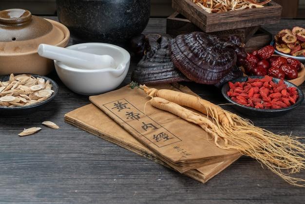 Żeń-szeń i tradycyjna medycyna chińska na stole