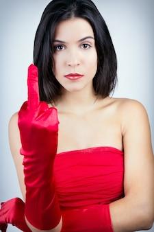 Żeński odzież czerwony nowoczesny młody
