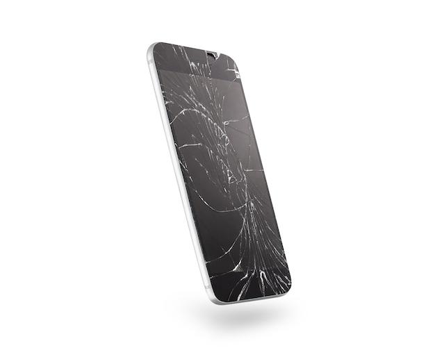 Zepsuty ekran telefonu komórkowego