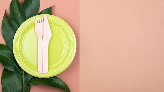 Zero waste zielona biodegradowalna zastawa stołowa do kopiowania