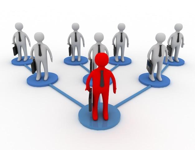 Zespół biznesowy z liderem