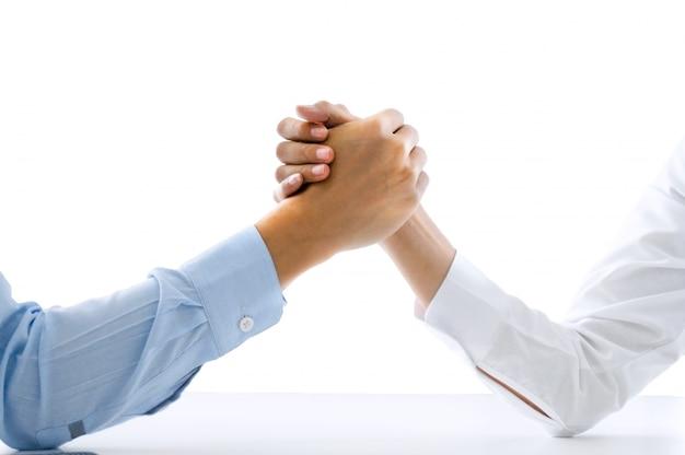 Zespół biznesowych gospodarstwa rąk współpracy współpracy koncepcji sukcesu na izolowanych białe tło