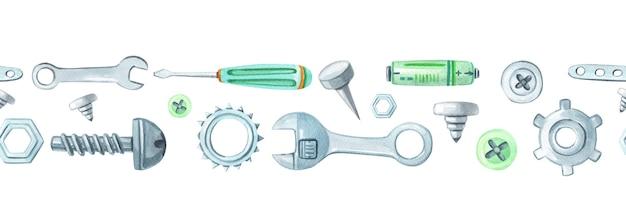 Zestaw akwareli metalowych narzędzi