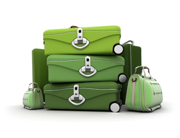 Zestaw bagażowy w odcieniach zieleni