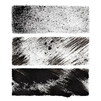 Zestaw czarnych prostokątów z szablonami - miejsce na własny tekst - ilustracja rastrowa