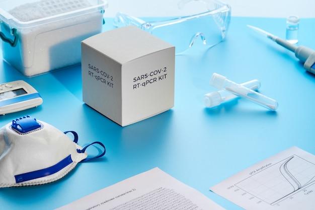 Zestaw diagnostyczny pcr sars-cov-2. jest to zestaw rt-qpcr do odwrotnej transkrypcji i amplifikacji w czasie rzeczywistym fragmentu dna wykrywającego specyficzny region wirusa 2019-ncov powodującego wirusowe zapalenie płuc covid-19.