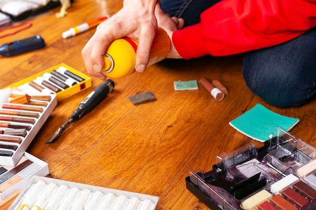 Zestaw do naprawy drewna i laminatów zestaw do naprawy ołówków woskowych, rysy uszczelniające i rysy