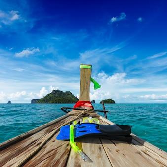 Zestaw do nurkowania na łodzi