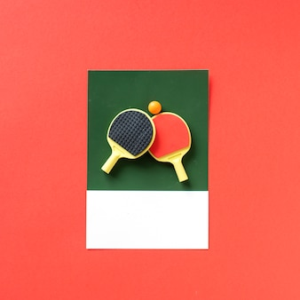 Zestaw do tenisa stołowego z piłką