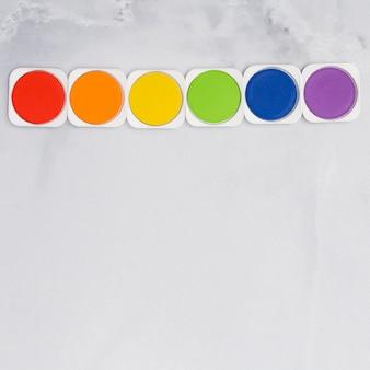 Zestaw farb tęczowych w kolorach lgbt