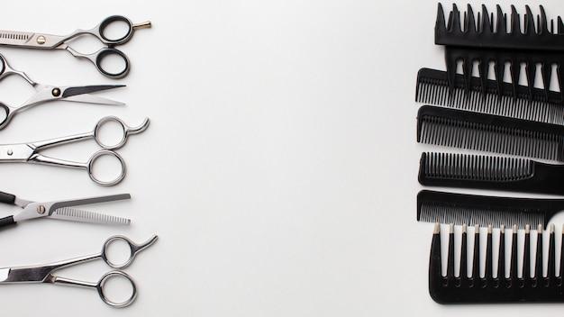 Zestaw grzebieni i nożyczek