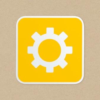 Zestaw ikon biegów na białym tle na tle