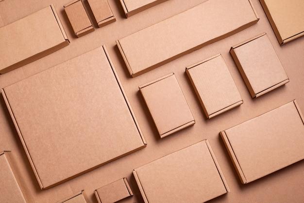 Zestaw kartonów brown rzemiosła, tło