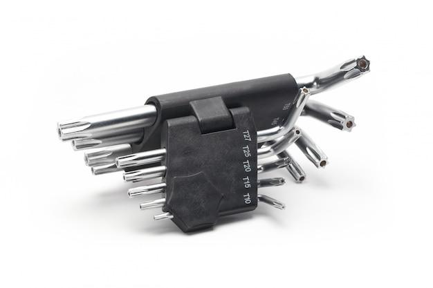 Zestaw kluczy imbusowych w czarnym gnieździe