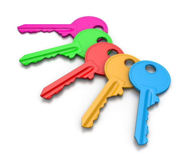 Zestaw kolorowych kluczy