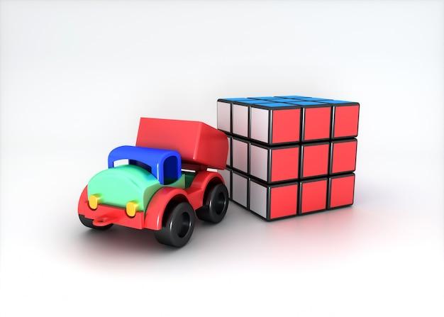 Zestaw kolorowych zabawek