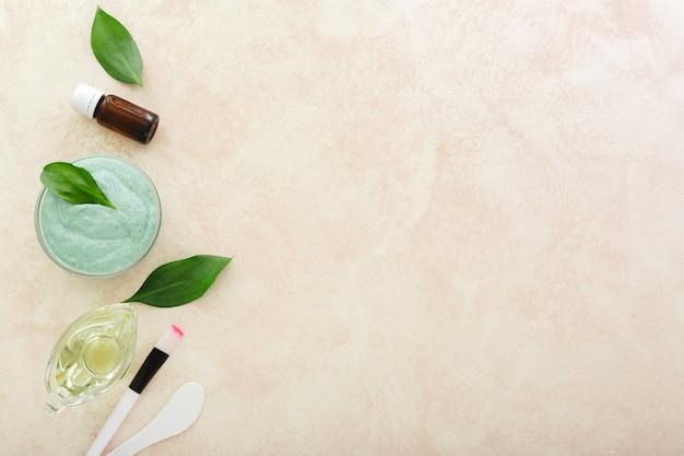 Zestaw kosmetyczny do gotowania nakładanie maseczki na twarz maseczka z awokado szpatułka pędzel olejek eteryczny