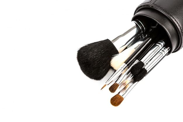 Zestaw kosmetyków do makijażu pędzlem