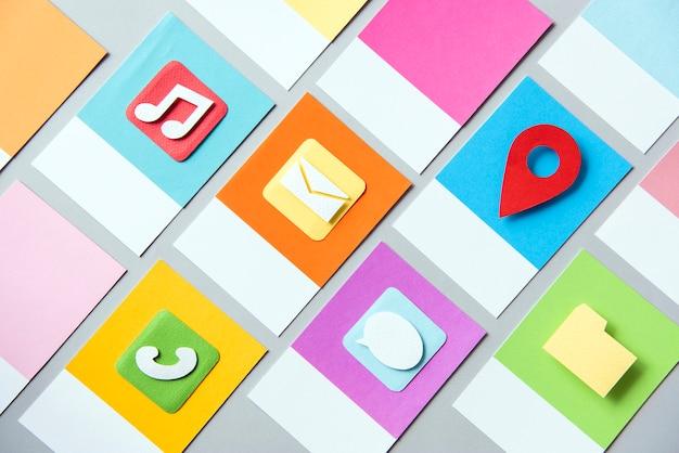 Zestaw mediów społecznych ikona ilustracja