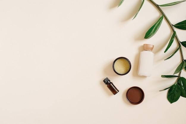 Zestaw naturalnych organicznych kosmetyków spa