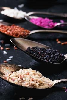 Zestaw niezwykłych ryżu