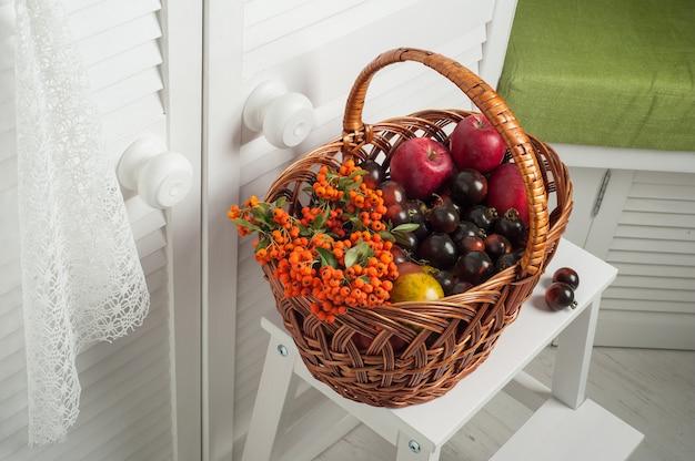 Zestaw owoców i warzyw dziękczynienia