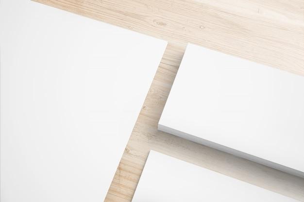 Zestaw papeterii na drewnianym biurku