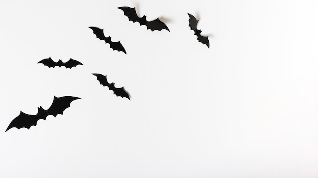 Zestaw papierowych nietoperzy