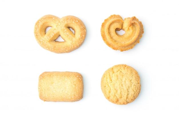 Zestaw plików cookie w widoku z góry
