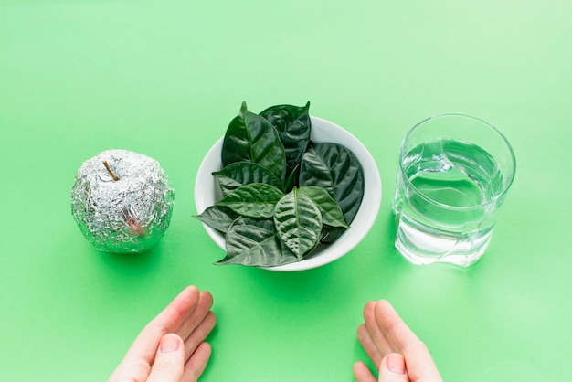 Zestaw przydatnych składników do zdrowej diety.