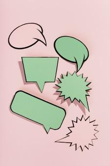 Zestaw pustych bąbelków mowy pop-art