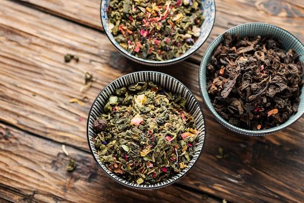 Zestaw różnych herbat
