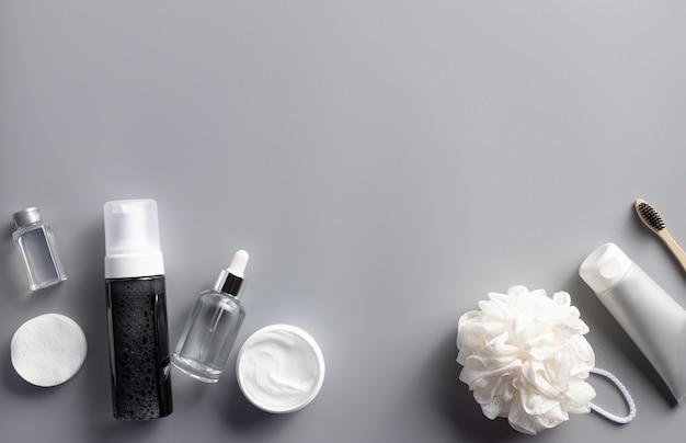 Zestaw różnych męskich produktów kosmetycznych