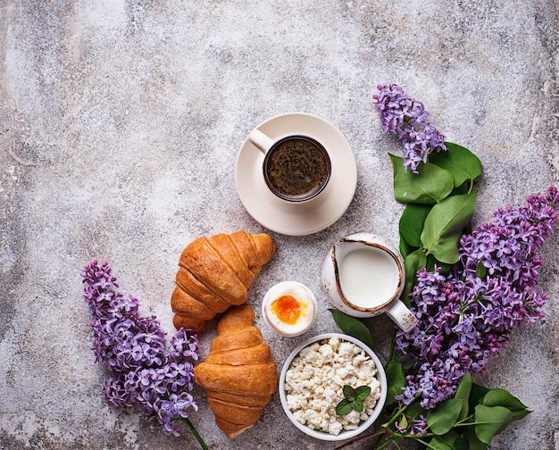 Zestaw różnych zdrowych śniadanie