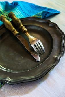Zestaw stołowy vintage