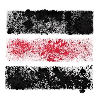 Zestaw szablonowych pasków - abstrakcyjne tło dla własnego tekstu - ilustracja rastrowa
