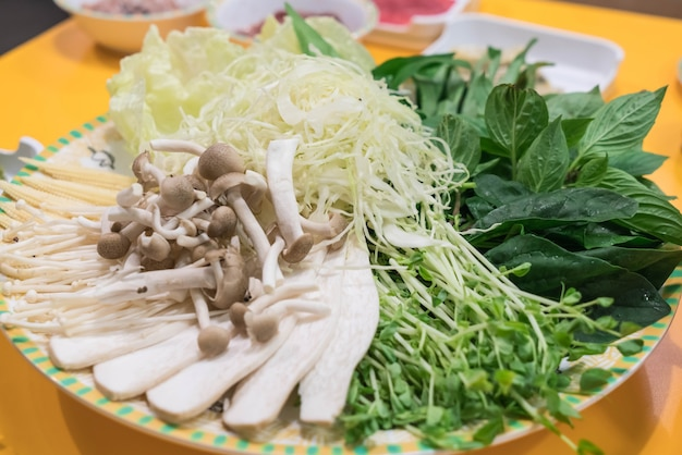Zestaw warzyw dla sukiyaki
