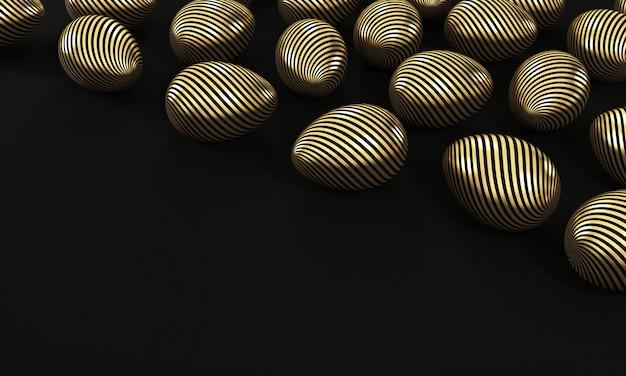 Zestaw złotych jaj na czarno