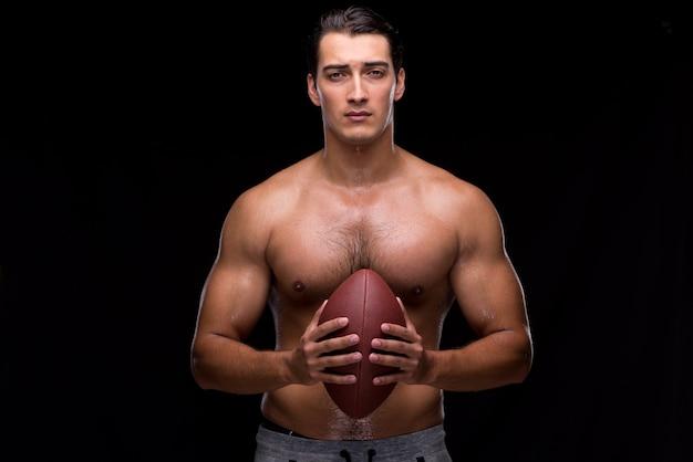 Zgrywanie mięśni człowieka z futbolu amerykańskiego