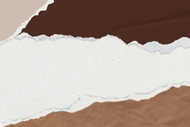 Zgrywanie papieru brązowe tło w odcieniu ziemi ręcznie robione rzemiosło