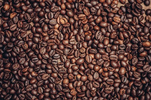 Ziarna kawy, kawa palona