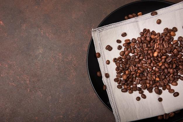 Ziarna kawy palonej przestrzeni kopii