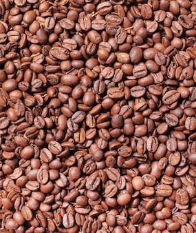 Ziarna kawy w tle