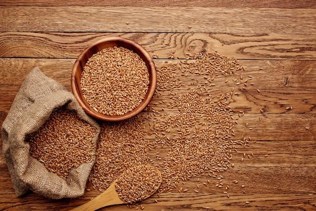 Ziarno worek zbliżenie składnik żywności ekologiczny