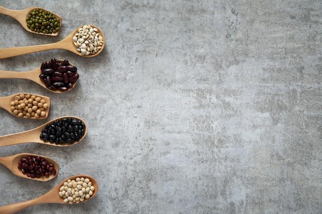 Ziarno ziarna dobre białko zdrowe do diety