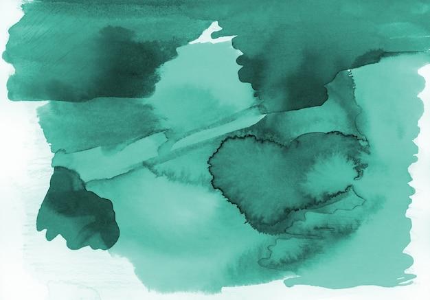 Zielona akwarela